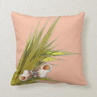 Peach Seashell Cushion