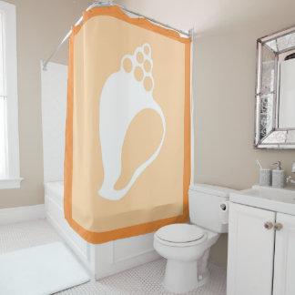 Peach Shell Shower Curtain