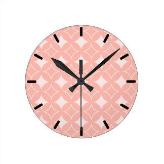 Peach shippo round clock