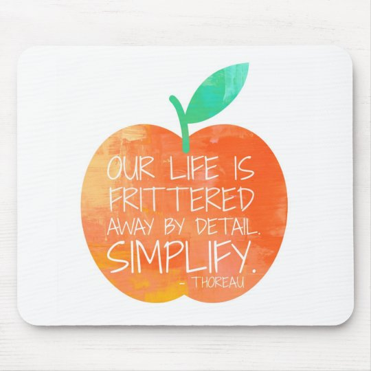 Peach Simplify Mouse Mat