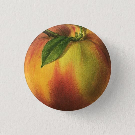 Peach Small, 1¼ Inch Round Button