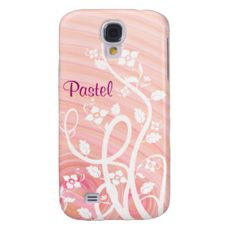 Peach Spirals, Filigree and Flowers Galaxy S4 Case