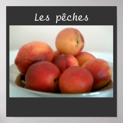 peach still life poster