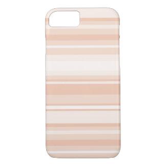 Peach stripes iPhone 7 case