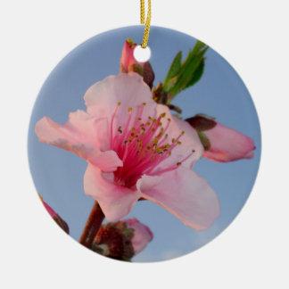 Peach Tree At Dawn Christmas Ornament