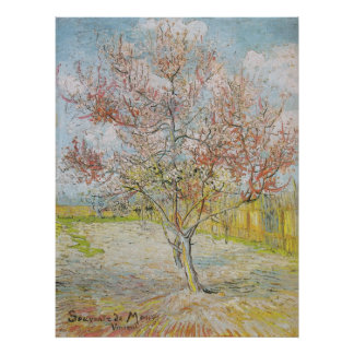 Peach Tree in Bloom at Arles Poster