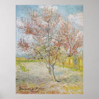 Peach Tree in Bloom at Arles Poster