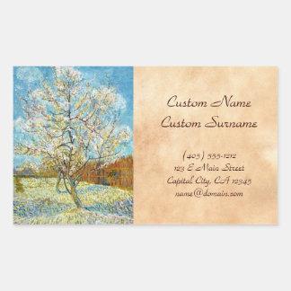Peach Trees in Blossom Vincent Van Gogh Rectangular Sticker