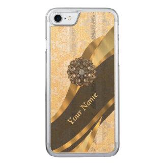 peach vintage damask pattern carved iPhone 8/7 case