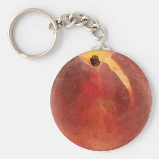 Peach Watercolor - Key Chain