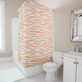 Peach Waves Shower Curtain