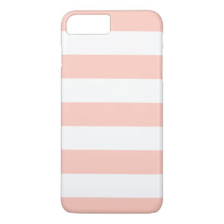 Peach White Stripes Pattern Girly iPhone 7 Plus Case