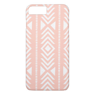 Peach White Tribal Pattern Girly iPhone 7 Plus Case
