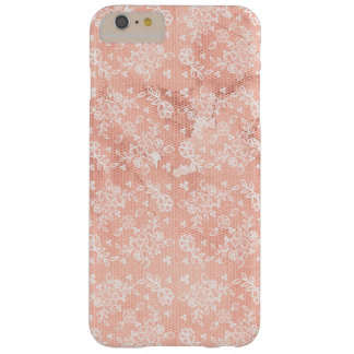 Peach With Cream Lace and Watercolor Phone Cases