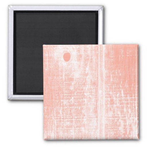 Peach Woodgrain Effect Magnets