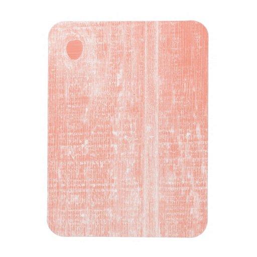 Peach Woodgrain Effect Rectangle Magnets