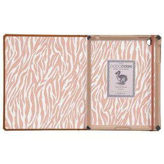 Peach Zebra Print