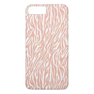 Peach Zebra Print iPhone 7 Plus Case