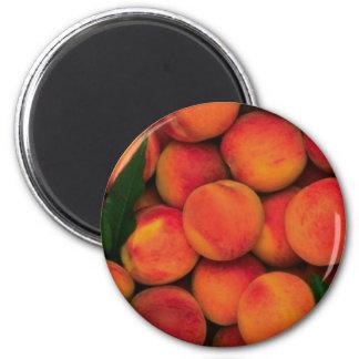 Peaches 6 Cm Round Magnet