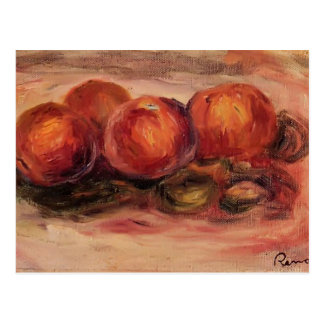 Peaches and Almonds by Pierre-Auguste Renoir Postcard