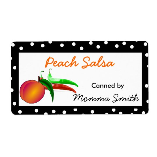 Peaches and Chilis Custom Canning Labels