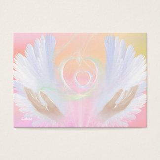 Peaches and Cream Angel Wings Healing Card
