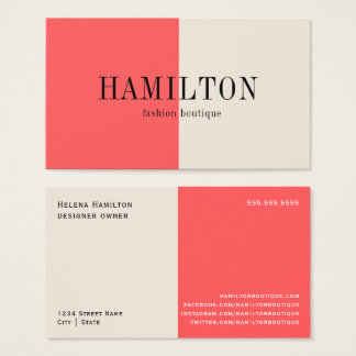Peaches and Cream | Business Card