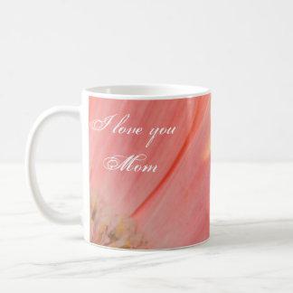 Peaches and Cream-I love you Mom Basic White Mug