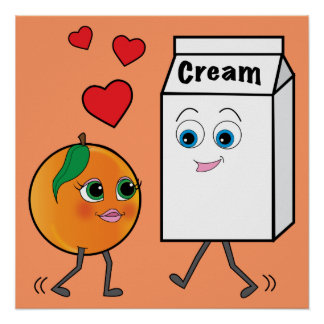 Peaches and Cream in Love Posters