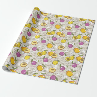 Peaches and Plums Wrapping Paper