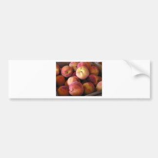 Peaches at Farmstand Car Bumper Sticker