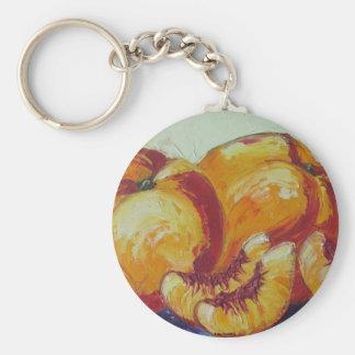 Peaches Basic Round Button Key Ring