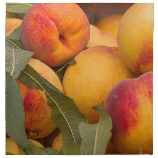 peaches cloth napkins