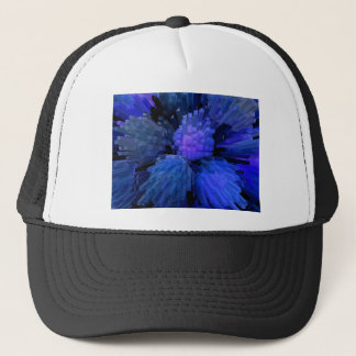 Peaches Extrude in Blue Trucker Hat