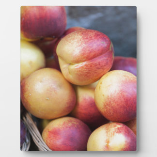 peaches in the basket plaque
