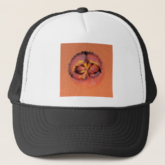 peaches in the extrude trucker hat