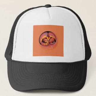 peaches in the globe trucker hat