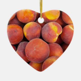 peaches Just in the globe Ceramic Heart Decoration