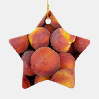 peaches Just in the globe Ceramic Star Decoration