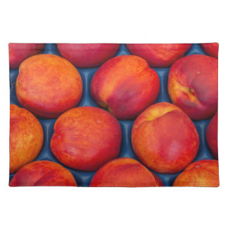peaches placemat