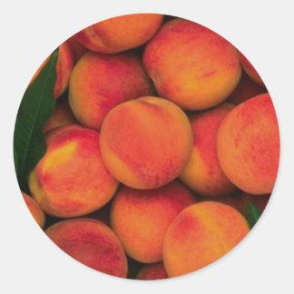 Peaches Round Sticker