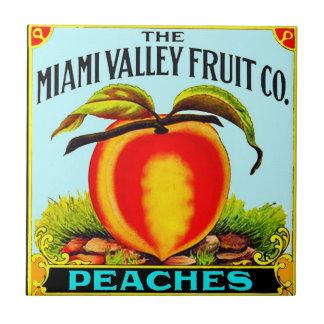 Peaches Small Square Tile