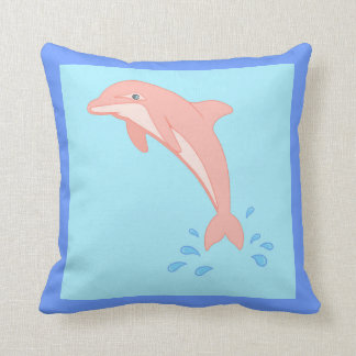 Peaches the Pink Dolphin Cushion