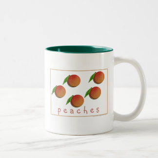 Peaches Two-Tone Coffee Mug