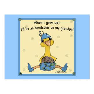 Peachick Handsome like Grandpa Postcard