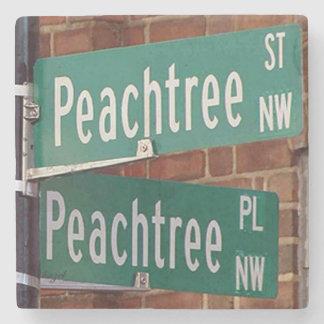 Peachtree Streets Atlanta Landmark Marble Coaster