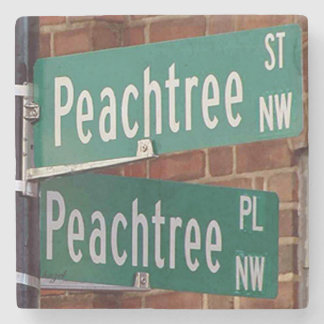 Peachtree Streets Atlanta Landmark Marble Coaster Stone Coaster
