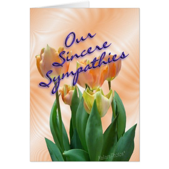 PeachTulips-Sympathy card-customise Card