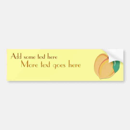 Peachy Bumper Sticker