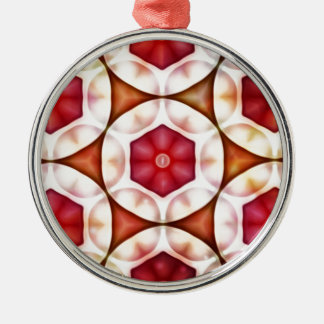 Peachy Cranberry Geometric3500x3500 Silver-Colored Round Decoration